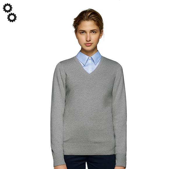 Woman-V-Pullover Premium-Cotton