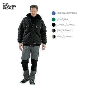 Winter-Blouson Schwarz/Schwarz