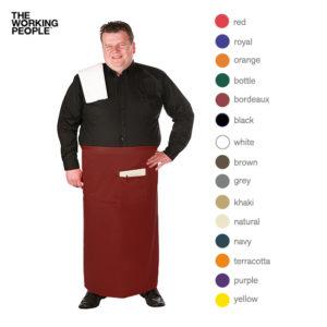 Bistroschürze Extra-breit mit Fronttasche