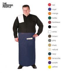 Bistroschürze Extra-breit mit Fronttasche 12