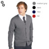 Golden Men V-Neck Knitted Cardigan 2