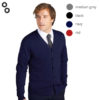 Golden Men V-Neck Knitted Cardigan 4