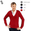 Golden Women V-Neck Knitted Cardigan 3