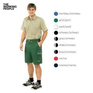 Arbeitsshorts grün/grün