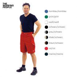 Arbeitsshorts rot/rot
