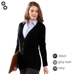Ladies V Button Cardigan